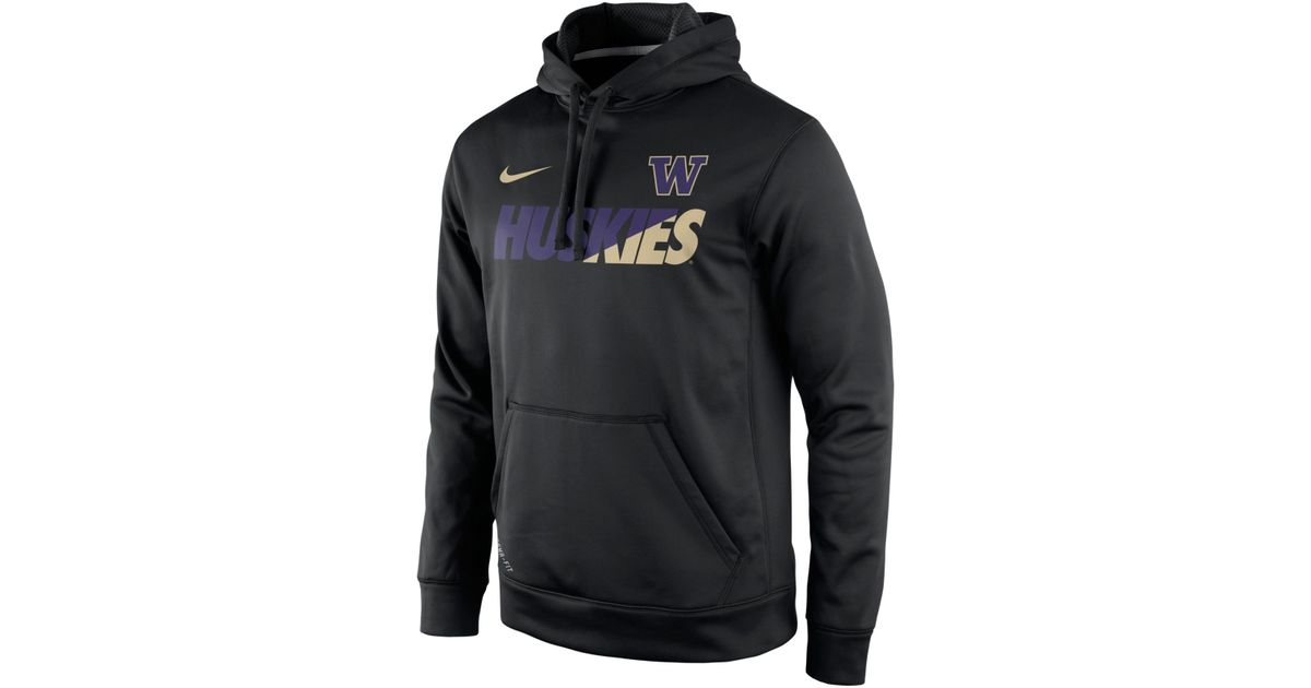 1598f4ff Nike Men's Washington Huskies Sideline Ko Hoodie in Black for Men - Lyst
