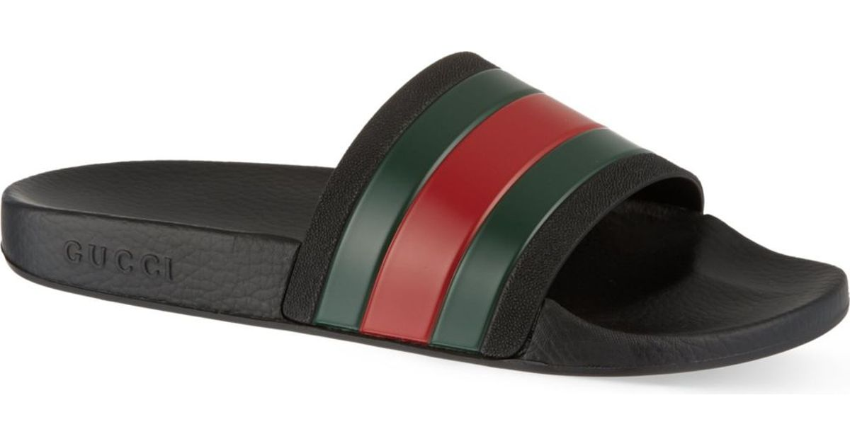 6bae895c832 Gucci Pursuit Striped Sandals - For Men in Green for Men - Lyst