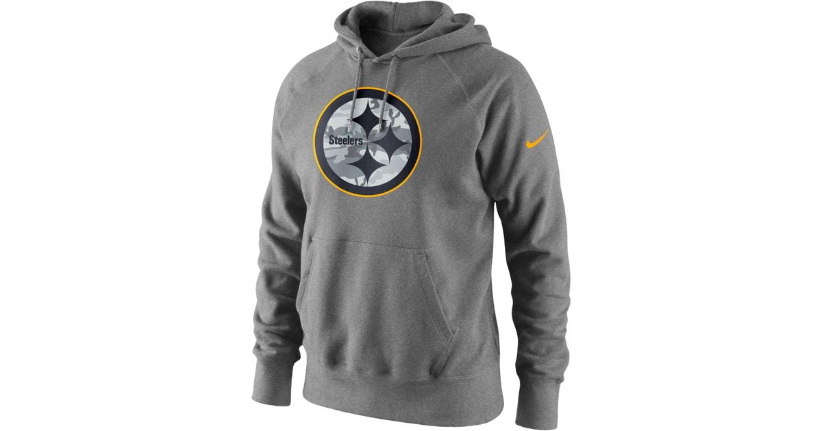 1371557e6c18 Lyst - Nike Men s Pittsburgh Steelers Fly Over Pack Hoodie in Gray for Men