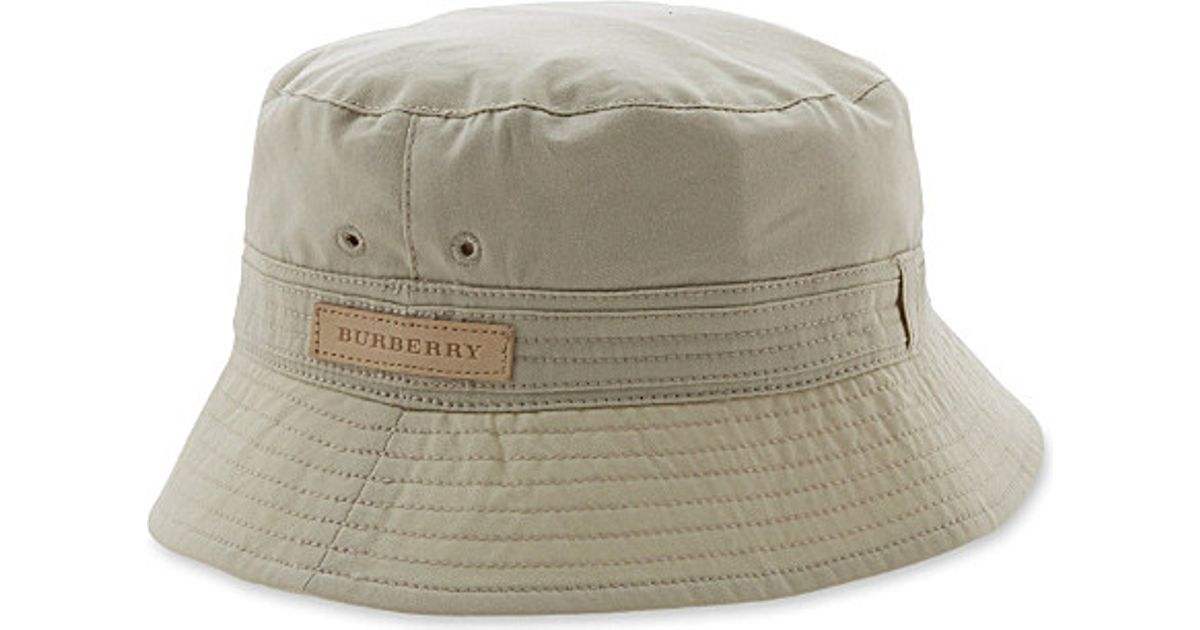 Burberry Bucket Hat - For Men in Natural for Men - Lyst 0eb9a5ffdb6