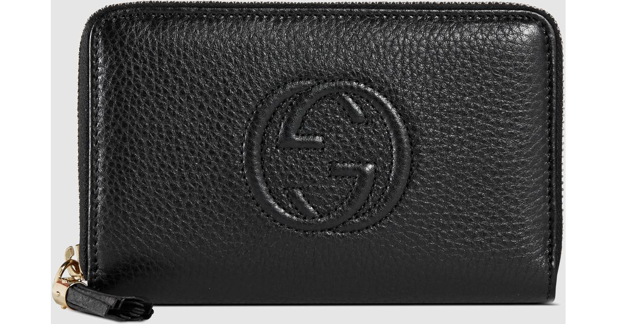 445195f3a3d739 Gucci Black Soho Zip Around Wallet | Stanford Center for Opportunity ...