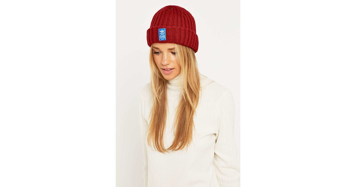 wholesale dealer 1a114 5d0e6 adidas Originals Red Fm Beanie in Red - Lyst