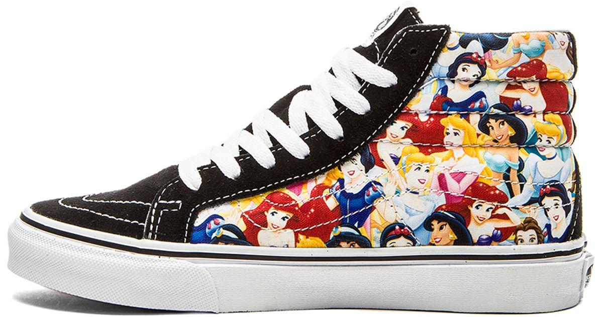 bbafef05ee56 Lyst - Vans Sk8 Hi Slim Disney Sneaker in Black