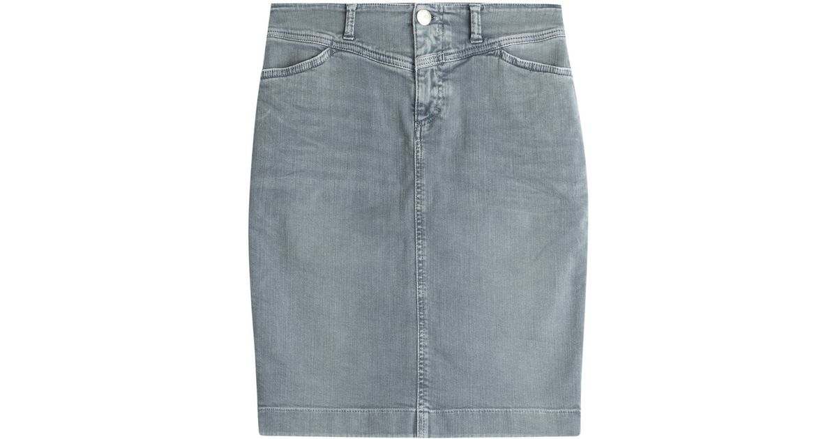 Closed Denim Skirt - Grey in Blue | Lyst