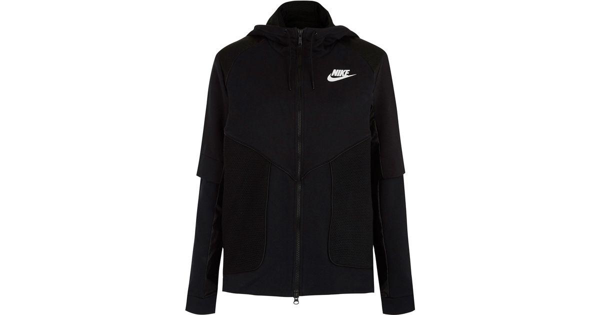 38623d8a5150 Lyst - Nike Black Perforated Full-zip Hoodie Jacket in Black