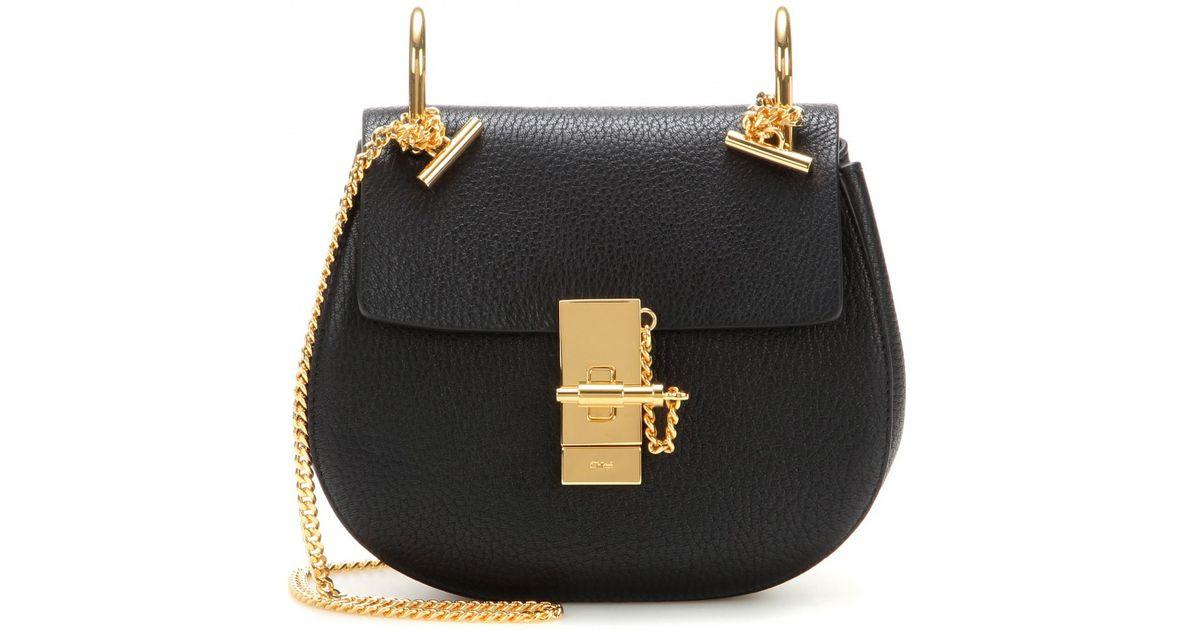 replica chloe bag - Chlo�� Drew Mini Leather Shoulder Bag in Black (black height 17cm ...