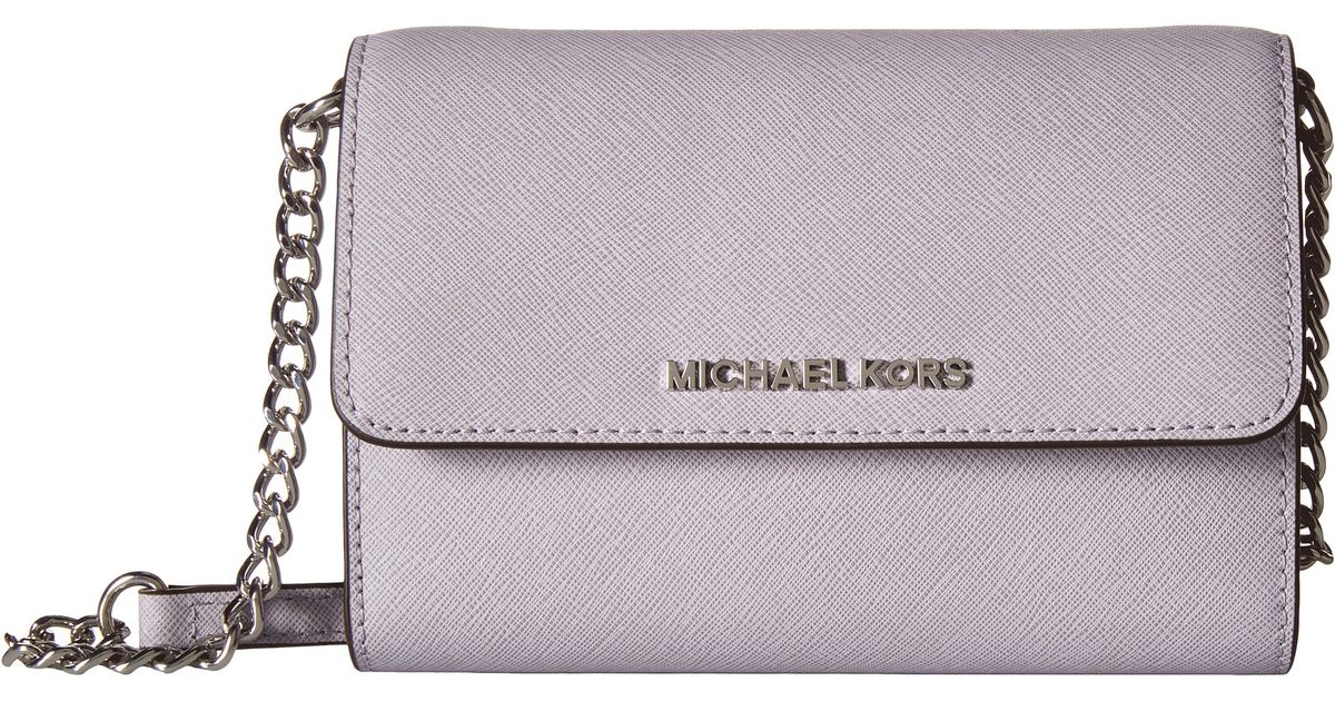 67e694058ee2 Lyst - MICHAEL Michael Kors Jet Set Travel Large Phone Crossbody in Purple