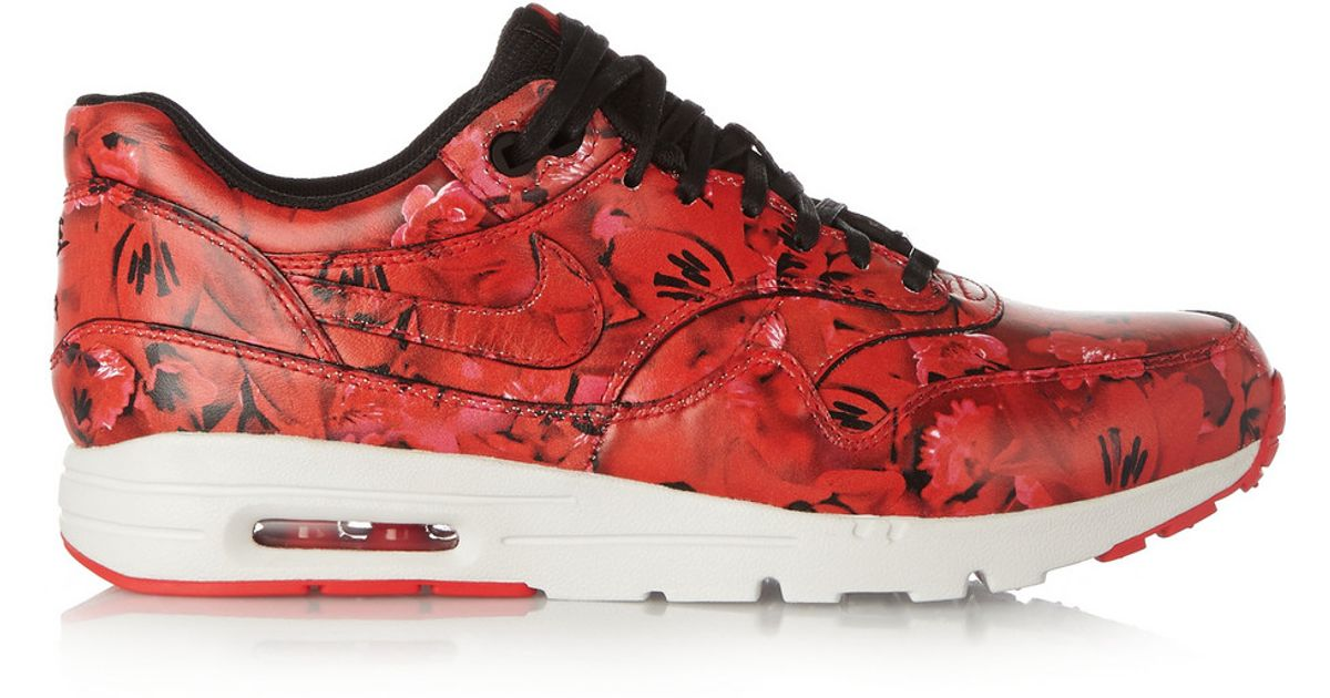 online store 62bbe de969 clearance nike air max 1 ultra shanghai floral print leather sneakers in  red lyst 21469 a4682