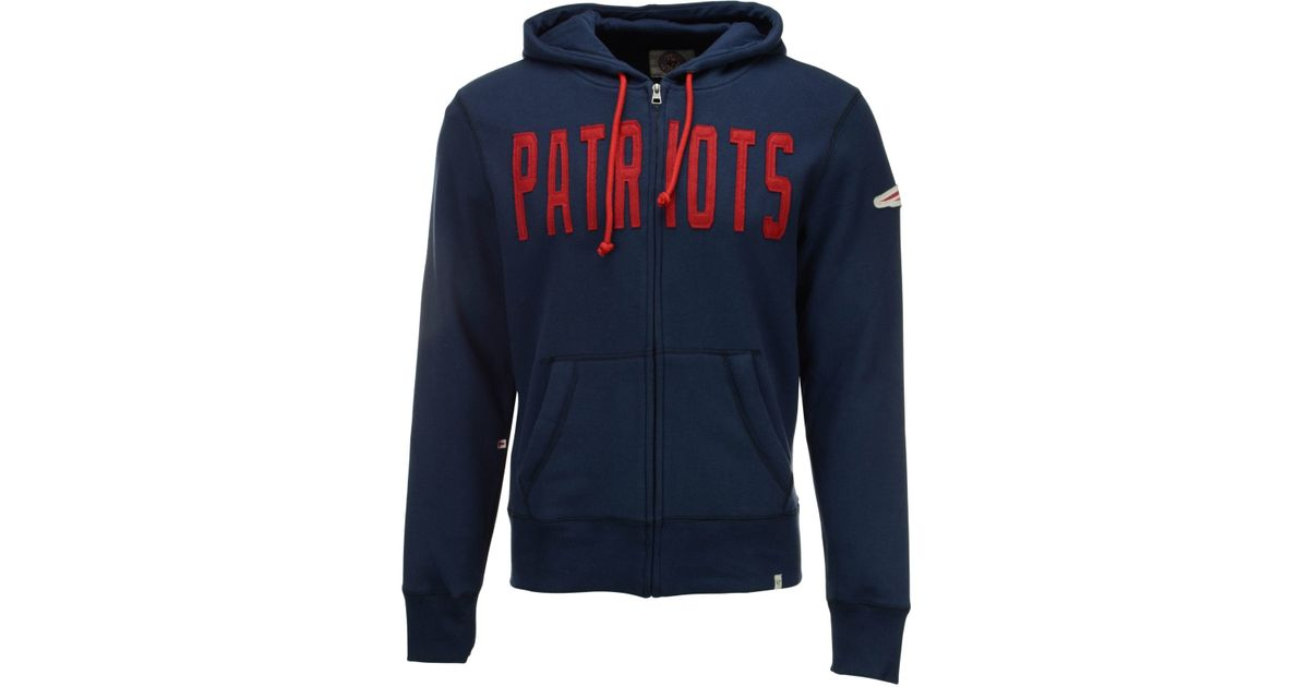 Lyst - 47 Brand Men s New England Patriots Cross Check Full-zip Hoodie in  Blue for Men 68ef960ae