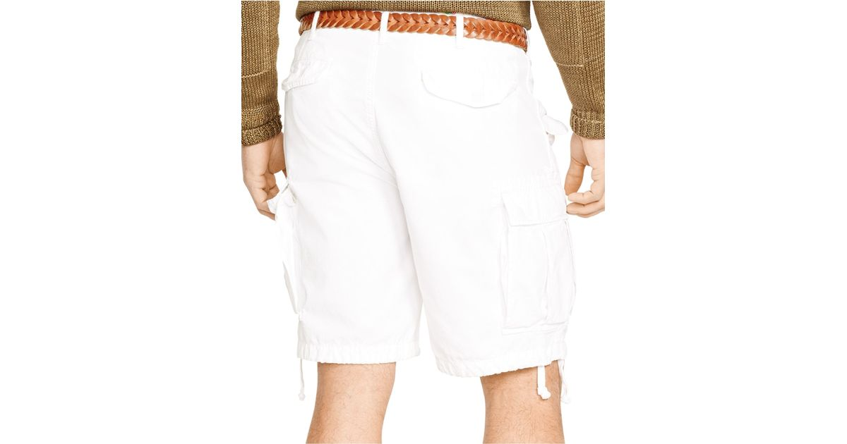 4f6fb33e99 Polo Ralph Lauren Relaxed-fit Ripstop Cargo Shorts in White for Men - Lyst