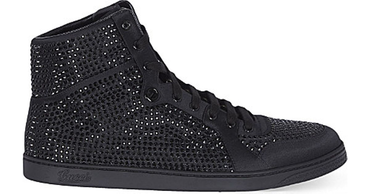 d267109f11f1 Gucci Coda Bling High-top Trainers in Black for Men - Lyst
