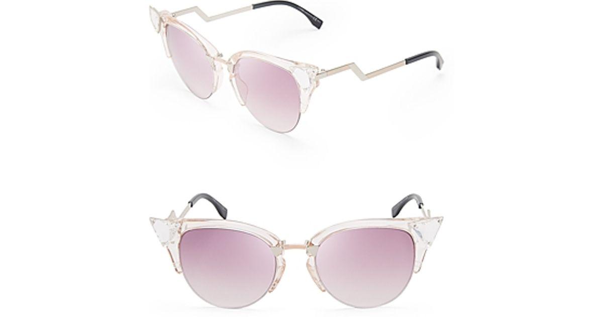 756c0930ef7c Fendi Cat Eye Sunglasses Crystal