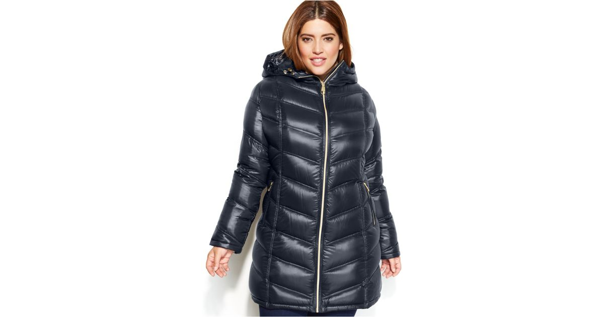 295b8967d40 Lyst - Calvin Klein Plus Size Quilted Down Packable Puffer Coat in Blue