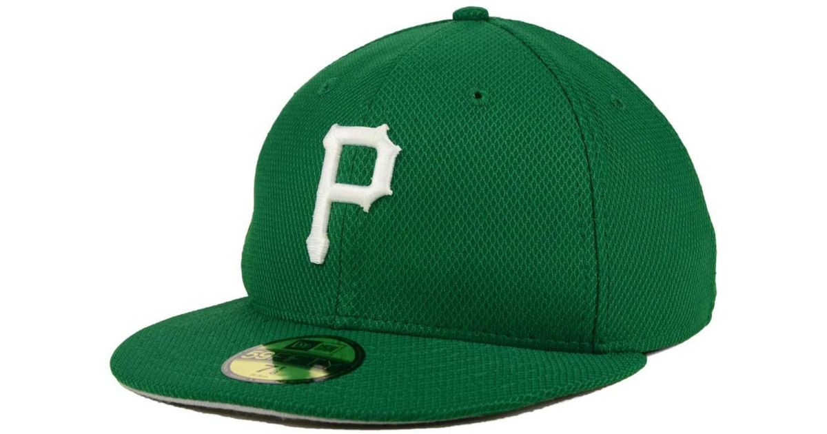 watch 267f6 314e7 Lyst - KTZ Pittsburgh Pirates St. Patty s Diamond Era 59fifty Cap in Green  for Men