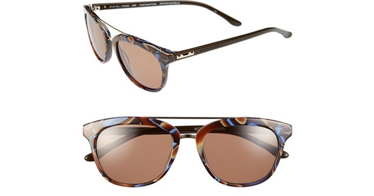 b2e535bb79efe Lyst - Bcbgmaxazria  fascination  51mm Sunglasses in Brown