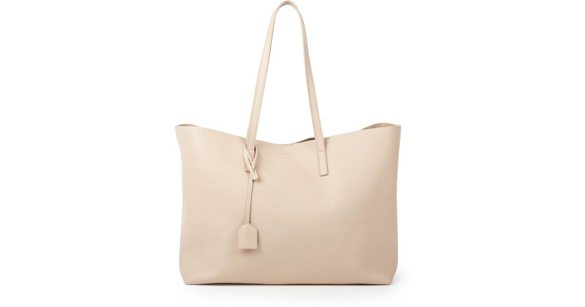 pink price tags - yves saint laurent large calfskin fringe shopping tote bag, school ...
