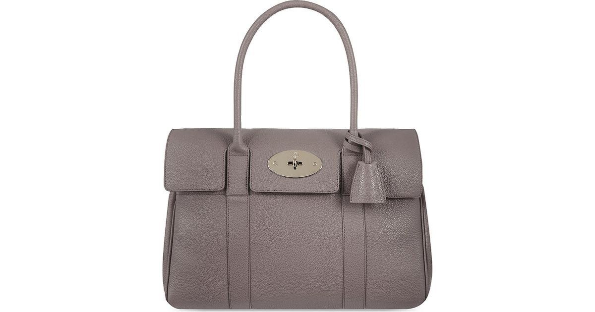 ... reduced mulberry bayswater bag womens mole grey in gray lyst c1658 081ea 69620bb45ad25