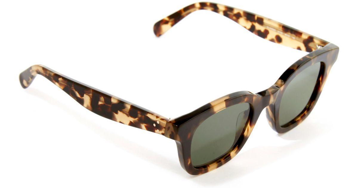 20cb89bc3dea Céline Tortoiseshell Classic Sunglasses in Brown - Lyst