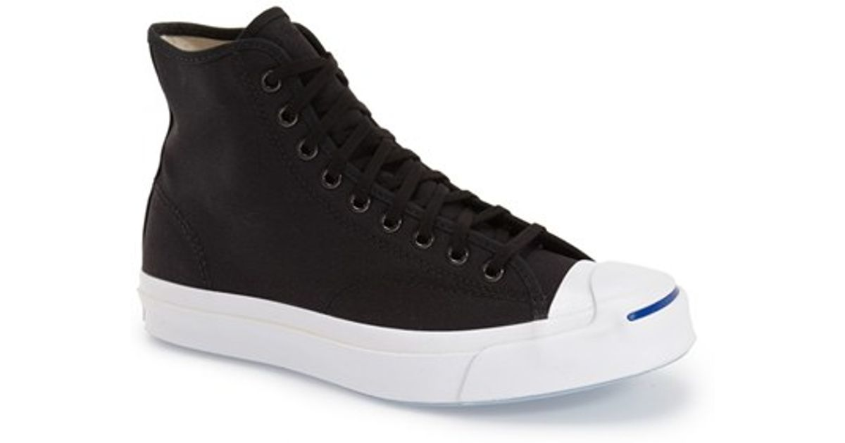 Lyst Converse Jack Purcell High Top Sneaker In Black