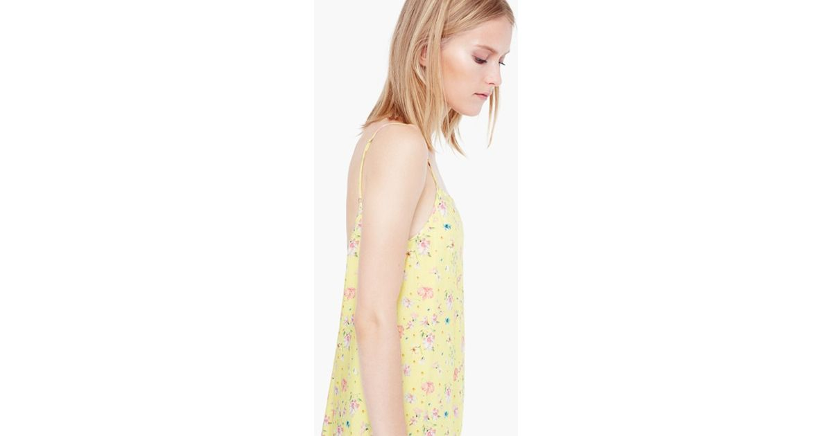 8a02972699b Mango Floral Print Playsuit in Yellow - Lyst