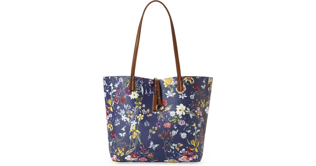 imoshion blue cognac reversible bag in bag garden floral