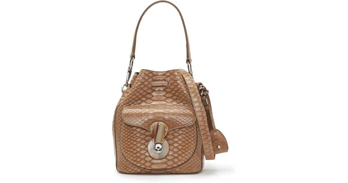 4efcd99af012 Lyst - Ralph Lauren Small Ricky Drawstring Bag in Natural