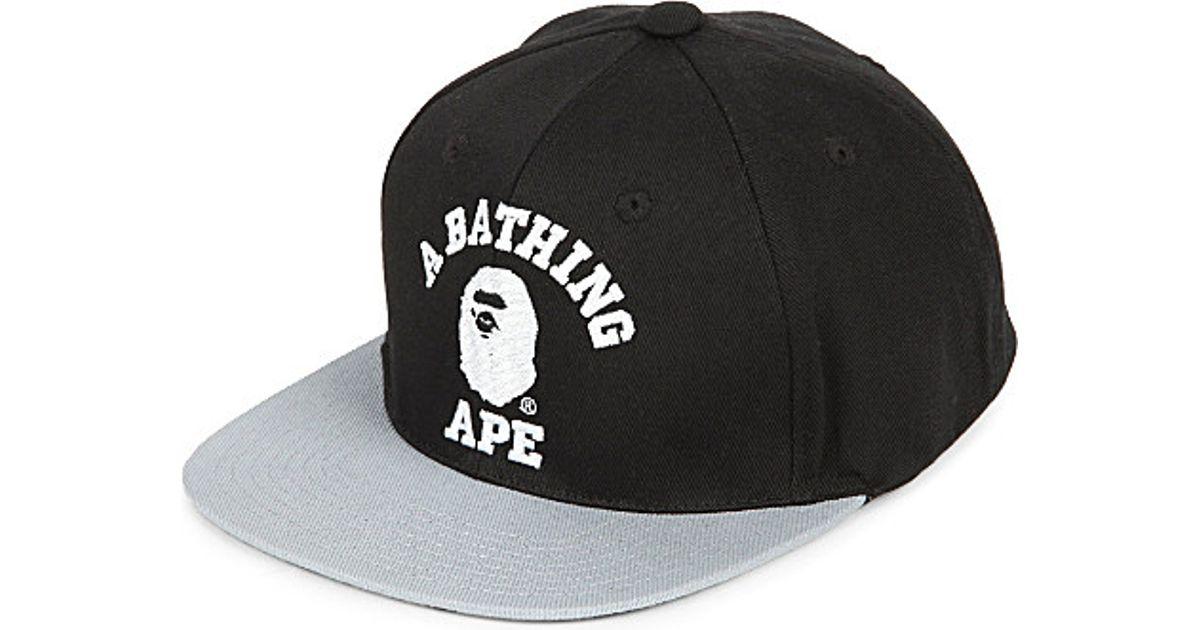 A Bathing Ape College Snapback - For Men in Black for Men - Lyst 96d67746ea7