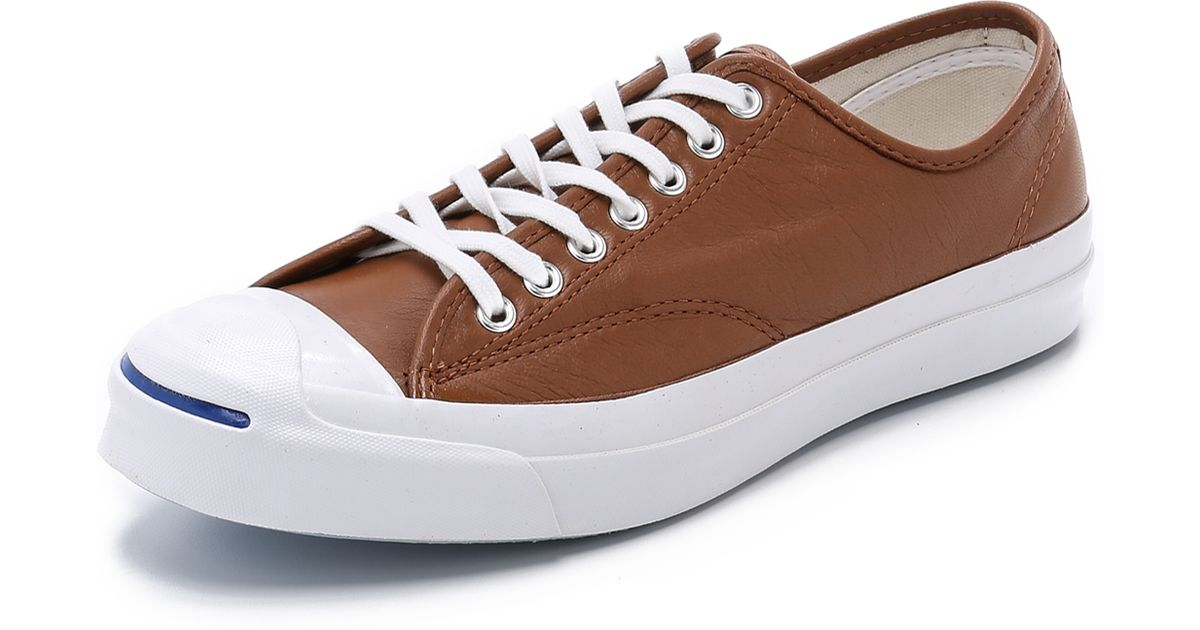 89f3aa00f6d8 ... purchase converse jack purcell signature leather sneakers in brown for men  lyst e9245 3d8f0