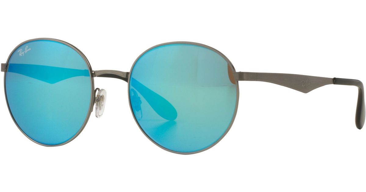 d2e77e0c1e Ray-Ban Rb3537 Highstreet Round Sunglasses in Green - Lyst