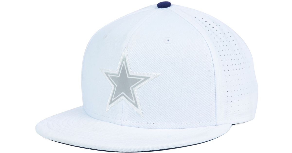 Lyst - Nike Dallas Cowboys True Vapor Fitted Cap in White for Men 746bc5c5238f