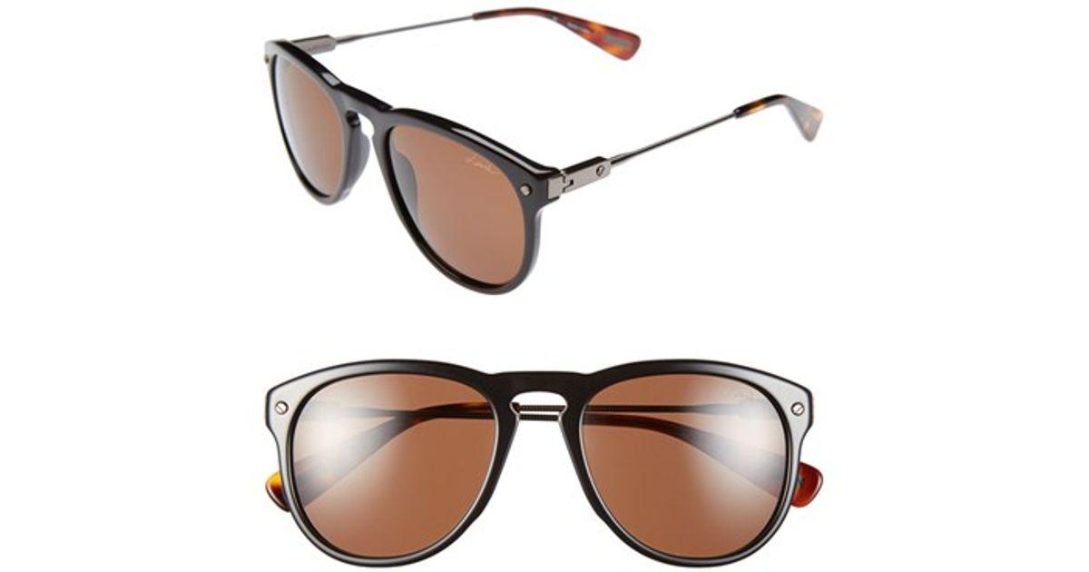 617b8edf00a Lyst - Lanvin  modified Aviator  53mm Sunglasses in Black for Men