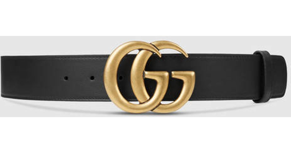 gucci leather belt with g buckle in black black