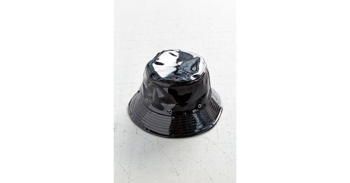 Lyst - Reason X Uo Clear Rain Bucket Hat in Black 8423e82e91b6