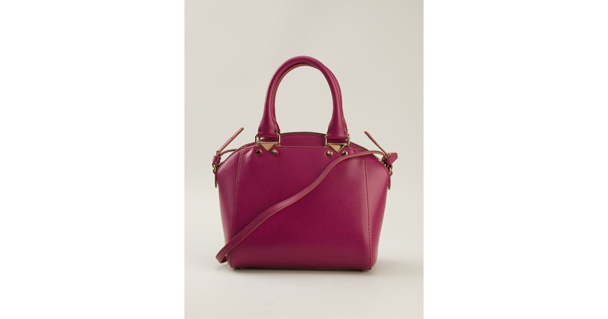 0a688b8df8 Lyst - Emporio Armani Structured Tote Bag in Pink