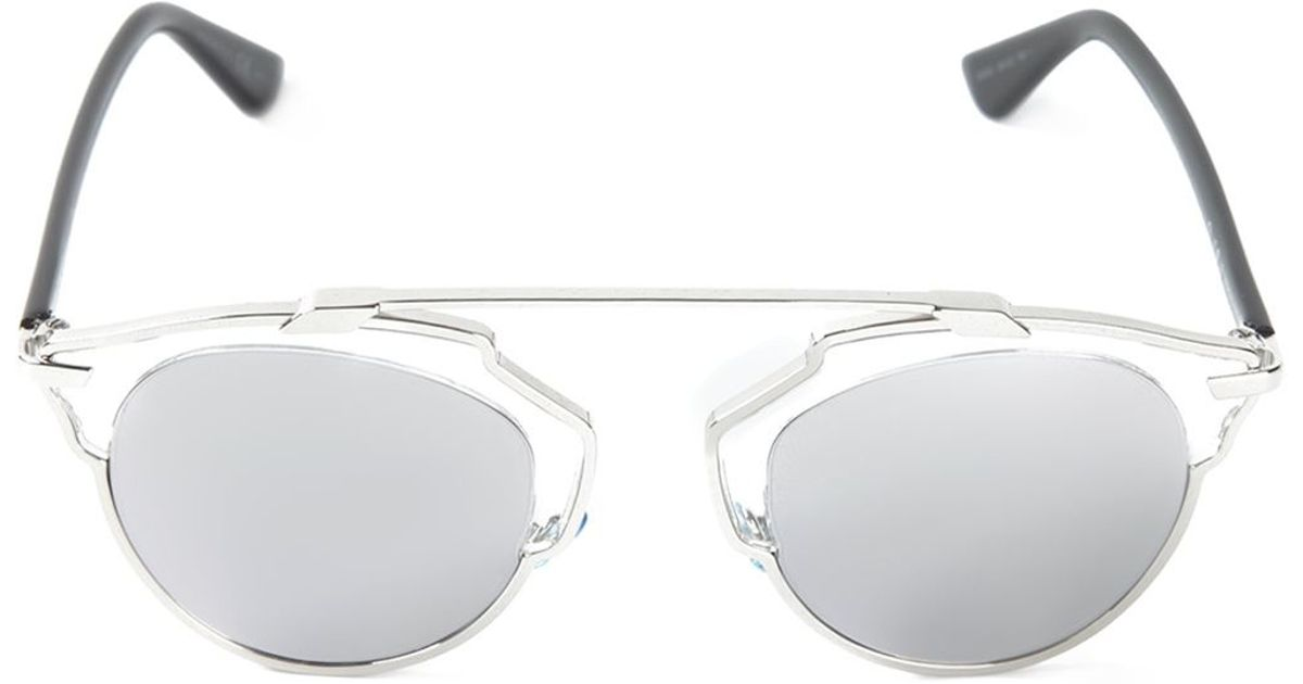 Dior Glasses Frame 2015 : Dior so Real Sunglasses in Silver (black) Lyst