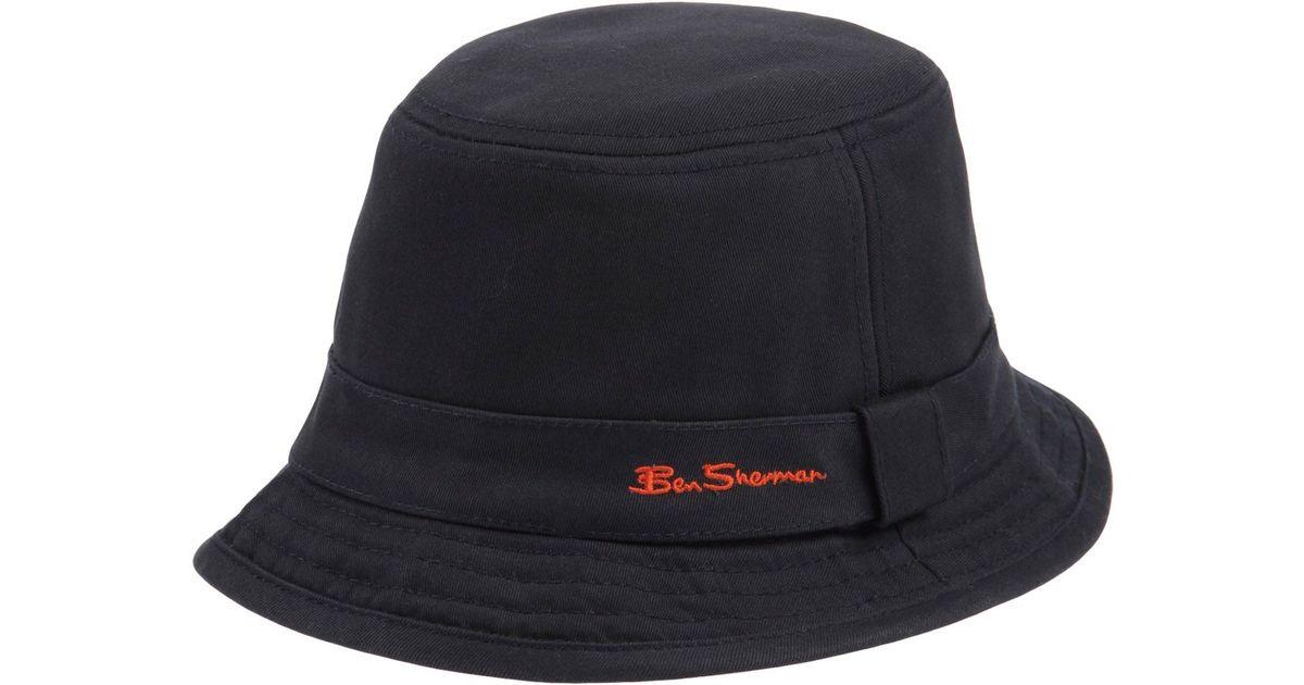 Lyst - Ben Sherman Hat in Blue for Men c30b01e341e
