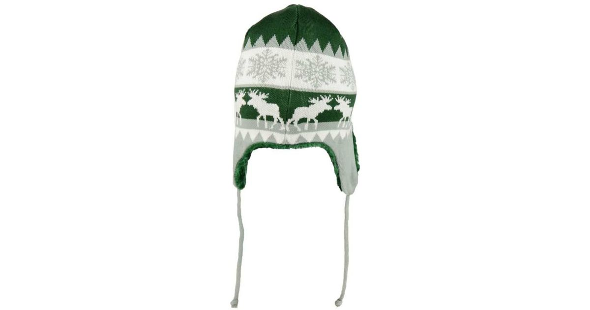 Lyst - KTZ New York Jets Moose Trapper Knit Hat in Green for Men a9c369a523db