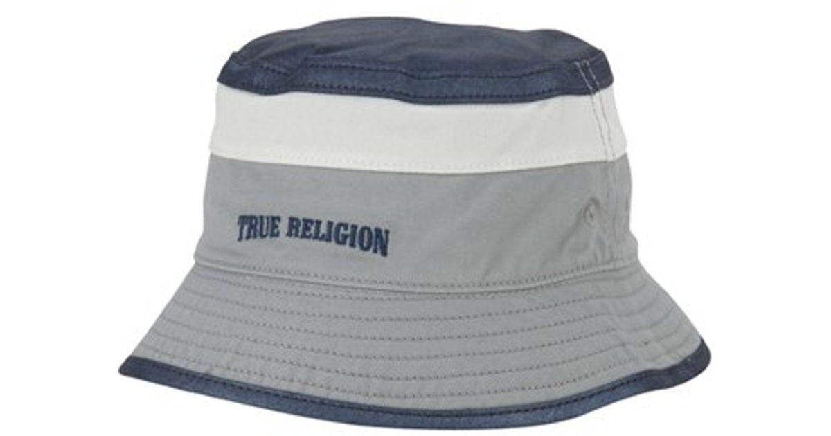Lyst - True Religion Colorblock Bucket Hat in Blue for Men f388351e5895