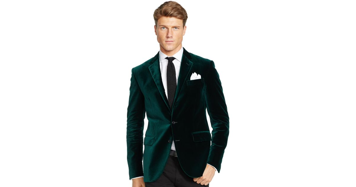 e2e5de872 Lyst - Polo Ralph Lauren Polo I Velvet Sport Coat in Green for Men