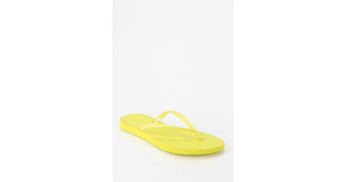 5be9450e2fcd Lyst - Havaianas Neon Slim Thong Sandal in Yellow