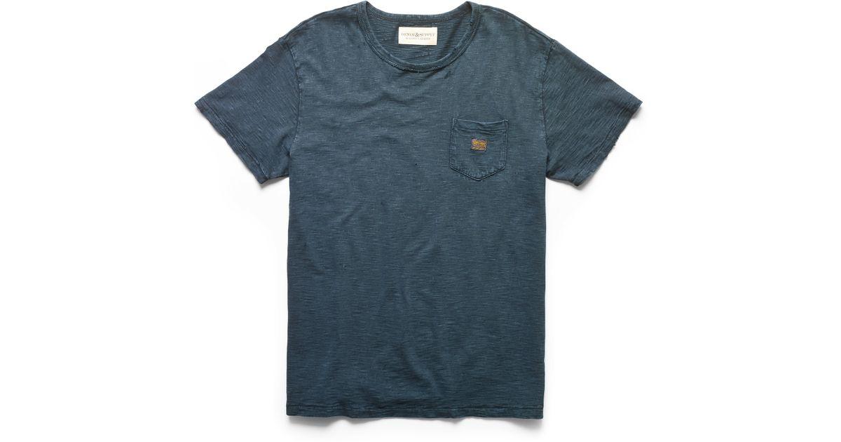 2f53994276 Lyst - Denim   Supply Ralph Lauren Indigo-dyed Cotton Pocket Tee in Blue  for Men