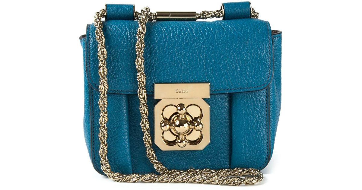 Chlo¨¦ Elsie Cross Body Bag in Blue   Lyst