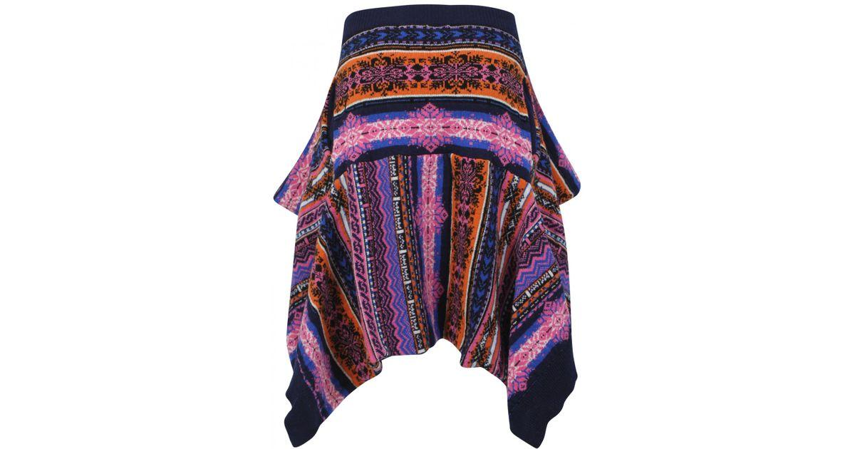 Sibling Fair Isle Knit Skirt | Lyst