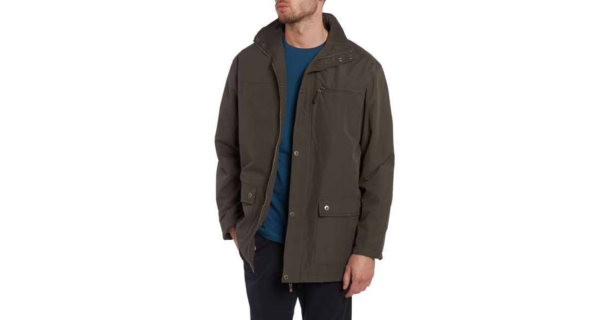 Lyst Farah Quilted Hunting Jacket In Green For Men
