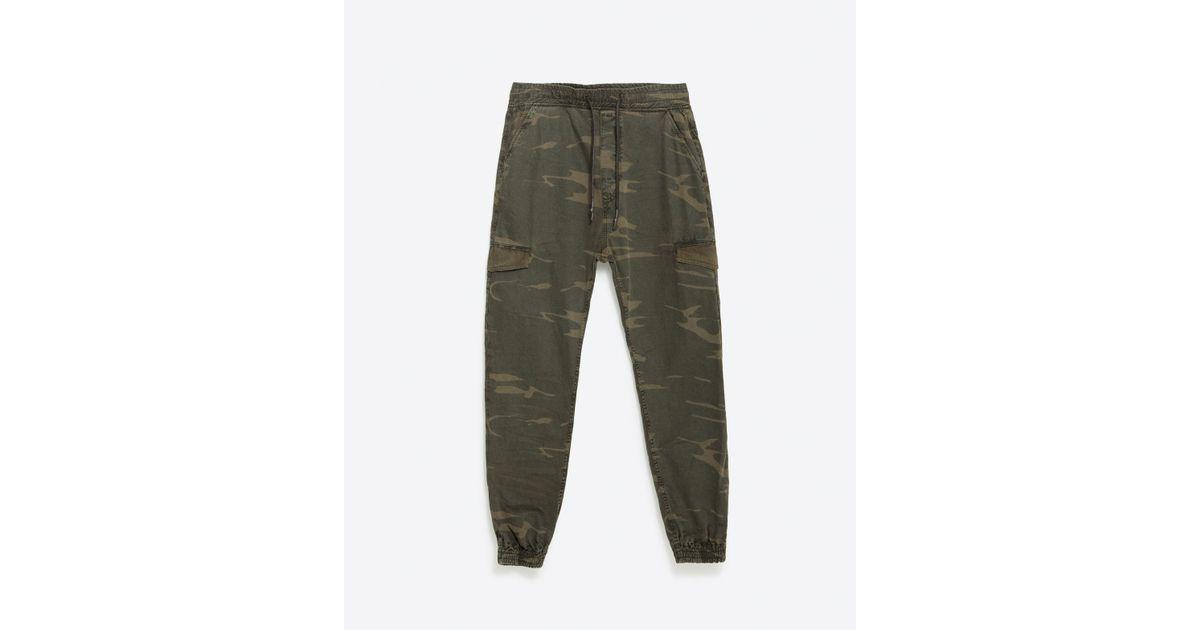Creative Zara Camouflage Trousers In Multicolor For Men Khaki  Lyst
