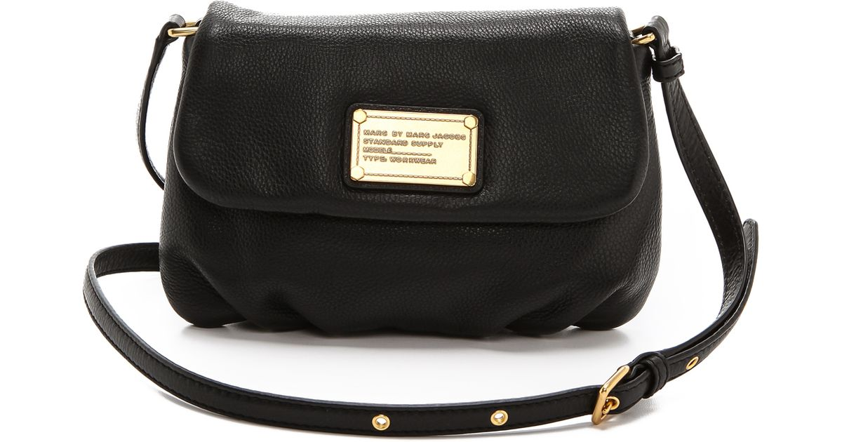 77e8c106a95 Marc By Marc Jacobs Classic Q Percy Leather Cross-Body Bag in Black - Lyst
