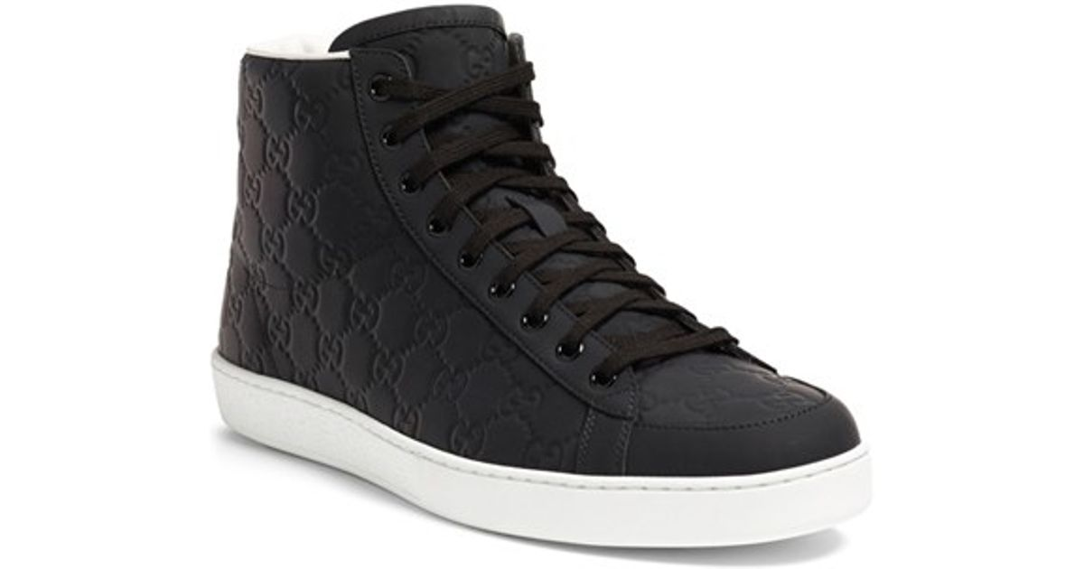 222593411c83 Lyst - Gucci  brooklyn  High-top Sneaker in Black for Men