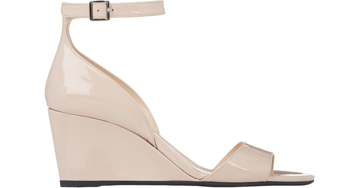 Prada Leather Ankle Strap Wedges discount best store to get Q53ac7p8HC