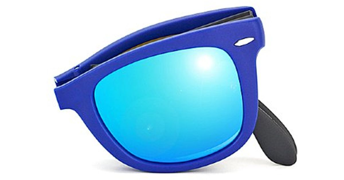 ray ban wayfarer espejo azul