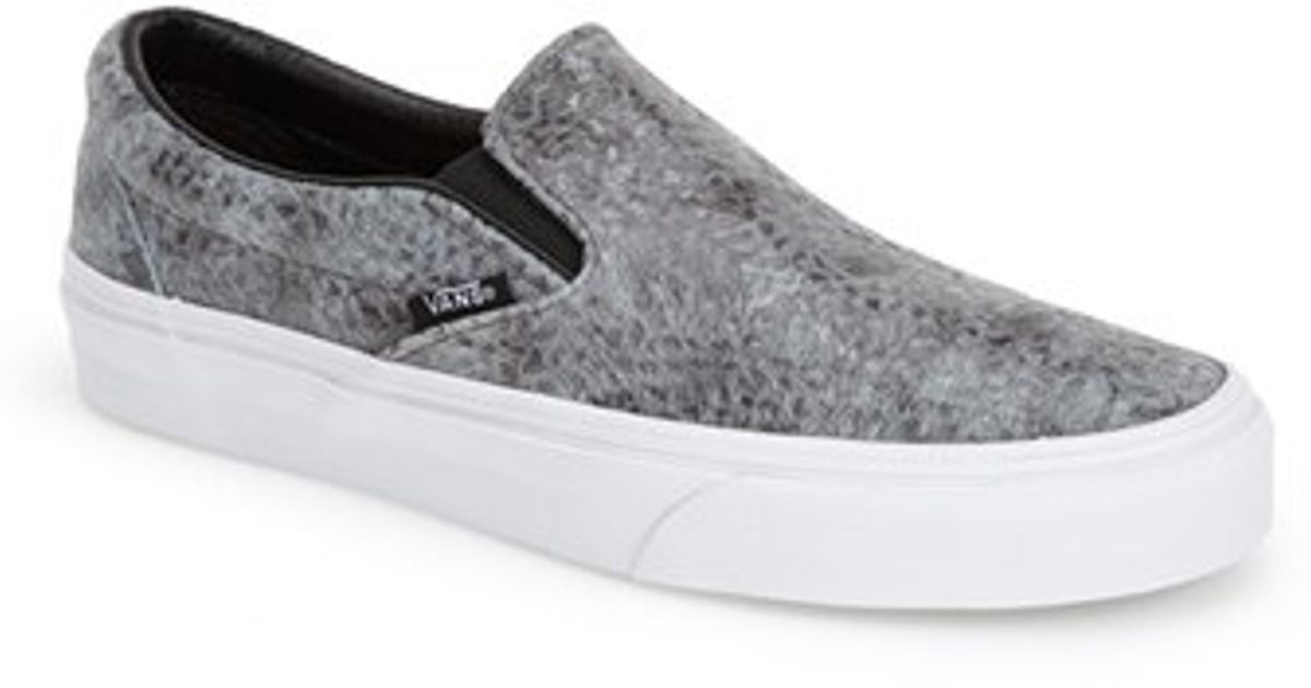 950840b1a6e5 Lyst - Vans  classic - Pebble Snake  Slip-on Sneaker in Black